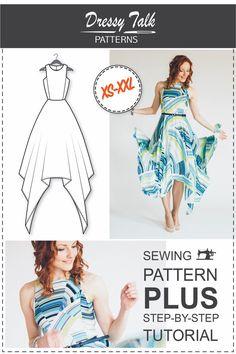 Dress Pattern - Dress Sewing Patterns - Sewing Tutorials - Maxi Dress Pattern - PDF Sewing Patterns - Sewing Projects - Sewing Patterns by DressyTalkPatterns on Etsy https://www.etsy.com/listing/238983563/dress-pattern-dress-sewing-patterns