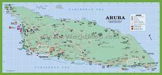 Aruba Map Card Aruba map and Destinations