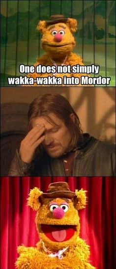Muppets + Lord of the Rings = hilarity