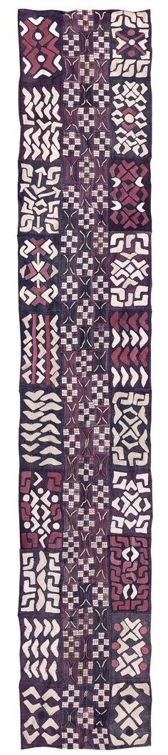skirt ~ ncaka kot ~ Kuba people of DR Congo raffia, natural dyes, late century Textile Fabrics, Textile Prints, Textile Patterns, Textile Design, Fabric Design, Pattern Design, African Textiles, African Fabric, African Art