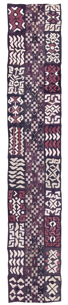Africa | Skirt ~ ncaka kot ~ from the Kuba people of DR Congo | Raffia, natural dyes | 2nd half of the 20th century