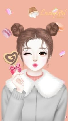 Find images and videos about cute, art and wallpaper on We Heart It - the app to get lost in what you love. Cartoon Girl Images, Cute Cartoon Girl, Anime Girl Cute, Beautiful Anime Girl, Anime Art Girl, Cute Girl Hd Wallpaper, Anime Korea, Korean Anime, Lovely Girl Image