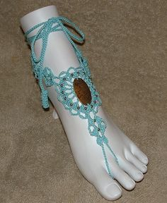 Barefoot Sandals  Turquoise with Horse Charm by gilmoreproducts33, $15.00
