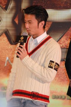 """Nicolas Tse attends a press conference for """"The Man from Macau"""" held in Beijing on December 11th, 2013"""