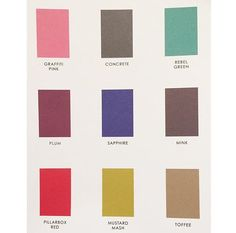 Check out our AW15 colour palette for the colours to wear this season #GP