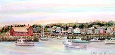 Rockport Harbor, Cape Ann, Massachusetts by Pamela Parsons