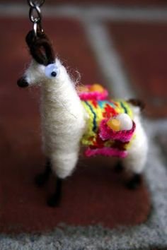 Adorable llama keychains, handmade from alpaca wool by Peruvian artisans, are back in stock at Global Gifts!