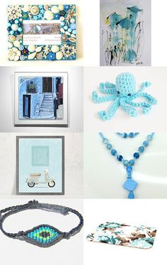blue and teal gift guide by Birgit on Etsy--Pinned with TreasuryPin.com