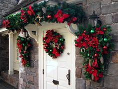 I love the embellishing of the ornaments. | #christmas #xmas #holiday #decorating #decor
