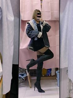 Thigh High Boots, Knee Boots, Thigh Highs, Thighs, Punk, Shoes, Style, Fashion, Swag