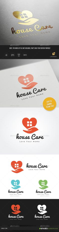 House Care — Vector EPS #villa #house cleaning • Available here → https://graphicriver.net/item/house-care/9628631?ref=pxcr