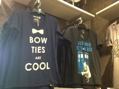 Doctor Who t-shirts seen at Torrid. I didn't know whether to be sad or happy. I was at least grateful they didn't have pink skulls. And yes, I now own a shirt that says madman with a box.