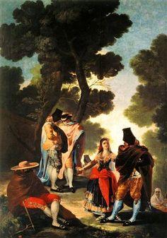 Paseo por Andalucía o La Maja y los embozados  - Francisco de Goya