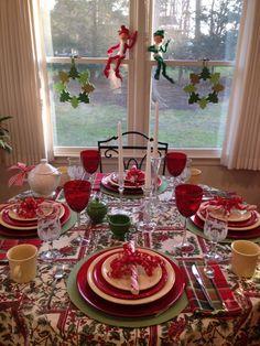 December 2015, Christmas tablescape