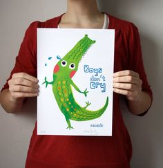 Boys dont cry / Crocodile Illustration by ItziarSanVicente on Etsy, $17.00