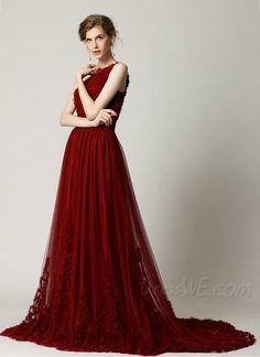 Couture Luxury Burgundy Red Short Sleeve Modern Vintage Formal ...