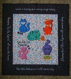 Crazy Cats Applique design set available for instant download at designsbyjuju.com