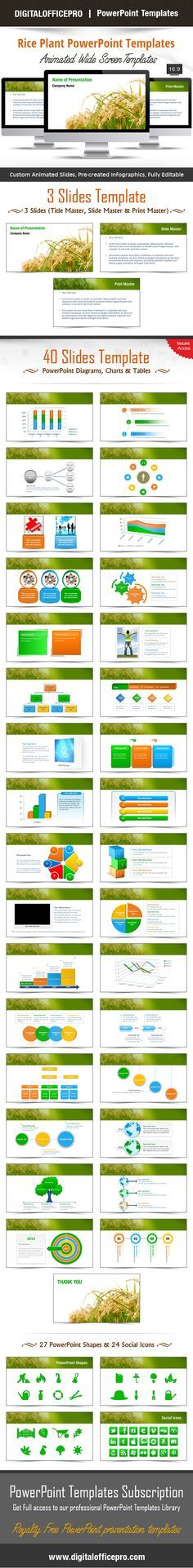 Rice Plant PowerPoint Template Backgrounds Impress and Engage your audience with Rice Plant PowerPoi Plants Grown In Water, Room With Plants, Plant Sketches, Rice Plant, Planting For Kids, Background Powerpoint, Plant Background, Plant Wallpaper, Diy Plant Stand