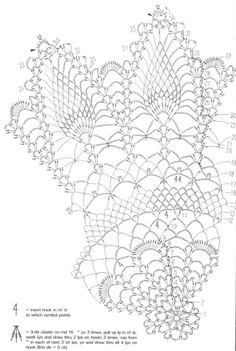 Page 2 of 3 *Pineapple Doily (Advanced pattern) Filet Crochet, Thread Crochet, Crochet Stitches, Knit Crochet, Crochet Angel Pattern, Crochet Doily Diagram, Crochet Doily Patterns, Art Du Fil, Crochet Dollies