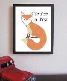 Children's Decor  You're a Fox  Nursery Art door FitToPrintDesigns, $25.00