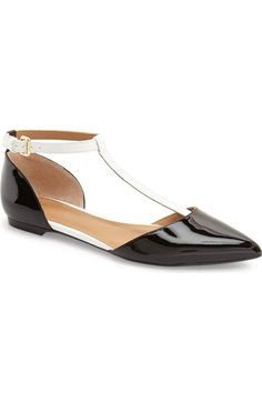 Calvin Klein 'Ghita' T-Strap Flat (Women) available at #Nordstrom