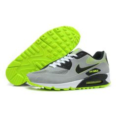 Only $80.99 Plus Free Shipping, NIKE AIR MAX 90 MENS SHOES Black Grey Green On