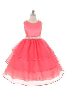 New Flower Girl Satin Organza Beautiful dress, available in several colors.