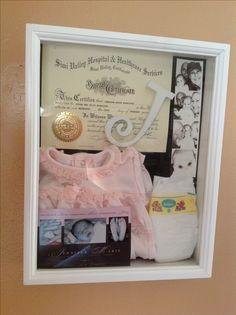 Shadow box idea for baby Charlotte.