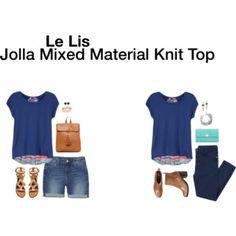 Le Lis Jolla Mixed Material Knit Top via Stitch Fix