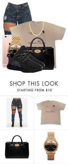 """"" by color-me-blue ❤ liked on Polyvore featuring Mulberry, Versace and adidas"