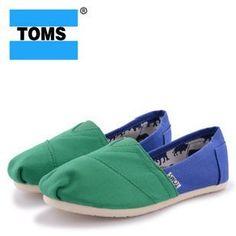 Womens Toms Stitchouts Green Blue