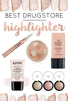 Highlighting and strobing has become so popular; everyone wants that gorgeous glow! Here are the best drugstore highlighters -- tried and tested by me over the years!