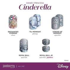 Disney Princess Cinderella - Disney Collection by Jamberry Cinderella Nails, Disney Princess Cinderella, Disney Princesses, Jamberry Disney, Disney Nails, Disney Makeup, Disney Designs, Nail Designs, Swag Nails