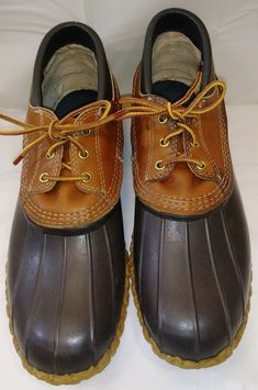 6ded4d2f396 BEAN BOOTS by L.L. Bean leather duck shoes men s size 13 M USA.  fashion   clothing  shoes  accessories  mensshoes  boots (ebay link)