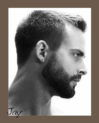 great men's grooming....line up your beards & neckline to maintain a fresh clean look.