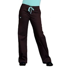 Peaches Uniforms Med Couture Women's Drawstring Solid Scrub Pant