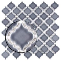 Shop SomerTile 12.375x12.5-inch Antaeus Imperial Grey Porcelain Mosaic Floor and Wall Tile (10/Case, 10.7 sqft.) - Overstock - 16702079 Bathroom Flowers, Arabesque Tile, Bathroom Design Luxury, Moroccan Design, Cool Tones, Stone Tiles, Porcelain Tile, Kitchen Ideas, Kitchen Colors