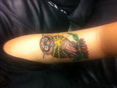 My new tattoo. Kaepora Gaebora from the legend of Zelda. I love it so much.