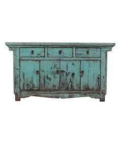 Look what I found on #zulily! Shining Blue Antique Sideboard by Sarreid Ltd. #zulilyfinds