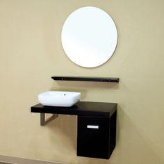 Bellaterra Livorno 35.4-in. Single Bathroom Vanity with Optional Mirror