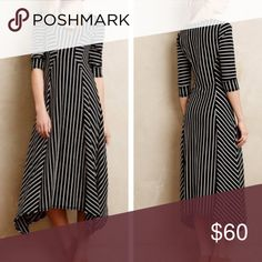 Saturday Sunday Anthropolgie  Striped Dress Perfect Condition!  Worn once!  Smoke free home! Anthropologie Dresses High Low