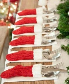 Stockings Stuffed with Utensils