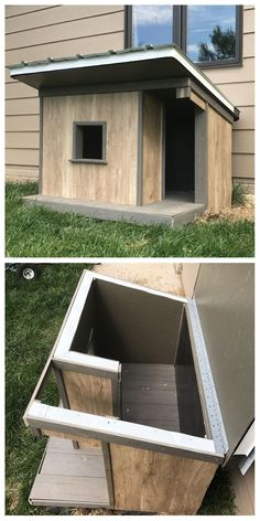 insulated dog house dog houses pinterest insulated dog house Cold Weather Dogs, Animal House, House Dog, Build A Dog House, Pallet Dog House, Cat House Diy, Diy Dog Houses, Outdoor Dog Houses, Outdoor Sheds