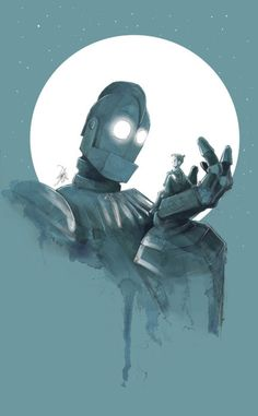Iron Giant illustration.