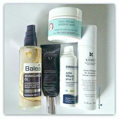 skincare evening routine Kiehls Balea, Louis Widmer, First Aid Dermasence