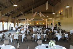 Grand Ballroom at The Silo. Simple décor. Wedding reception.