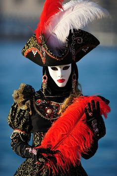 Venice carnival costume/mask good intent