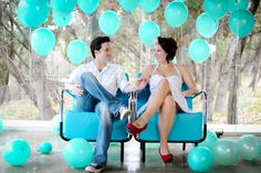 Balloon engagement session (Click Chick Photography)