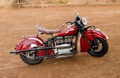 Steve McQueen's 1940 Indian Inline Four to beat $90,000 at Pebble Beach? #auction #stevemcqueen #motorcycles