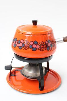 vintage brabantia fondue stel met set vorken door DutchVintageDesign